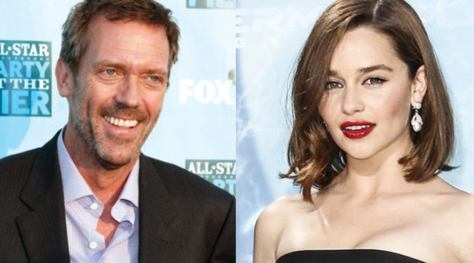 Hugh Laurie and Emilia Clarke